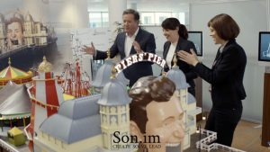 sonim_experiential_advert_piers_morgan_camelot_circus_fair_lead_develop_bespoke_build_Richard_Grant